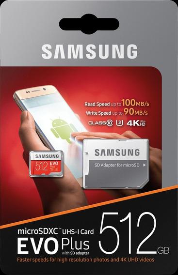 Cartão De Memória Samsung Evo Plus 512gb Para Câmeras