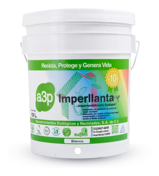 Imperllanta Impermeabilizante De Llanta 10 Años Color Blanco
