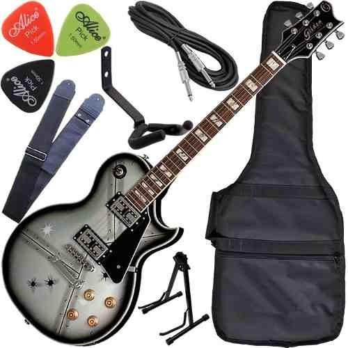 Kit Guitarra Les Paul Golden Cap Wilkinson Gld160 Stl Steel