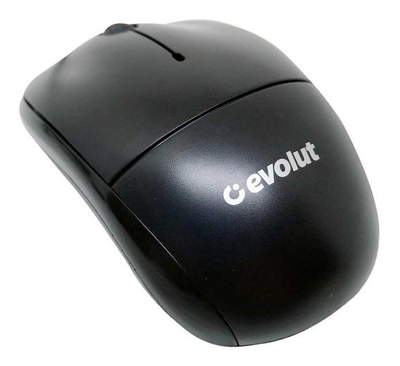 Mouse Óptico Evolut Eo-102bk Preto 1000dpi