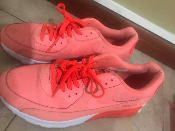 Nike Air Max -naranja Con Coral, Talle 8.5 - (38 Y 1/2)