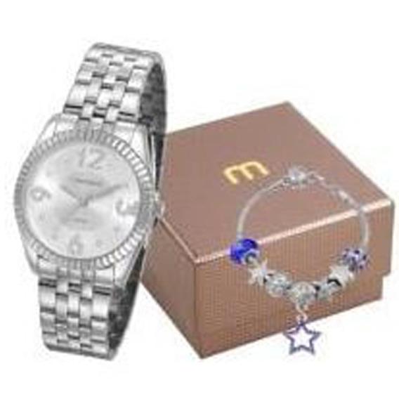 Kit Relógio Mondaine Feminino 99310l0mgne2k1