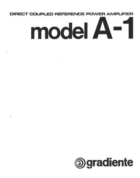 Amplificador Gradiente A1 Manual Em Pdf