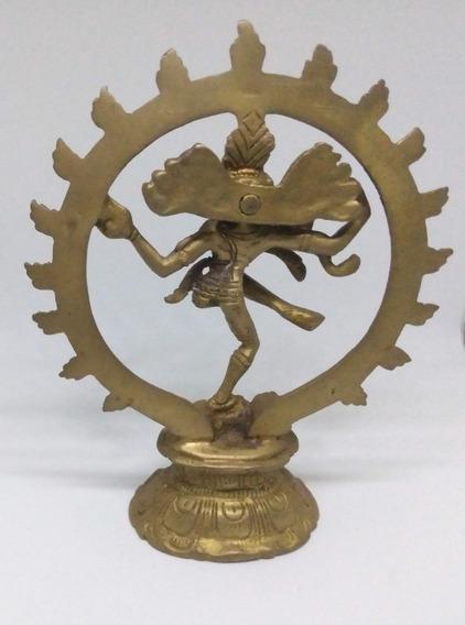Estatueta Decoração Enfeite Shiva Nataraj Em Bronze - 19cm