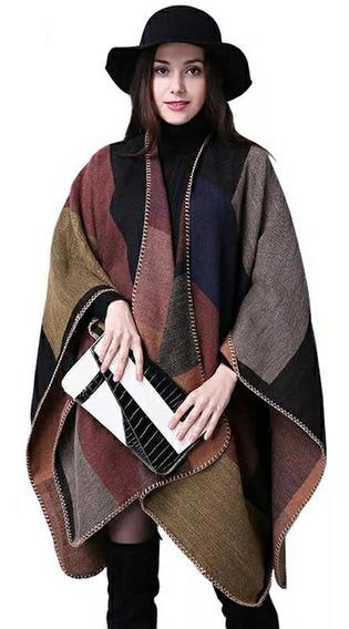 Capa Para Mujer Dama Chal Poncho Sueter Abrigo Colores