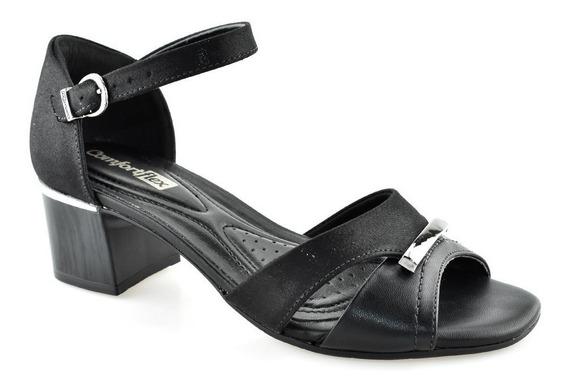 Sandália Salto Baixo Robusto Comfort Flex 1752410