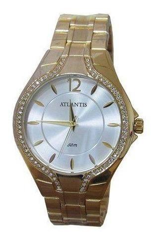 Relógio Atlantis G3413 Dourado Feminino