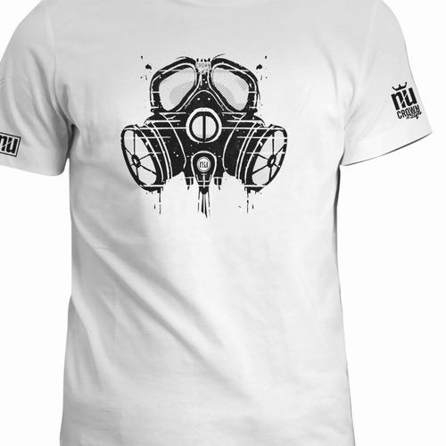 Camisetas Estampadas Mascara De Gas Hombre Mujer Inp Cln Eco