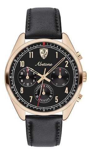 Imagen 1 de 4 de Reloj Ferrari Caballero Color Negro 0830570 - S007