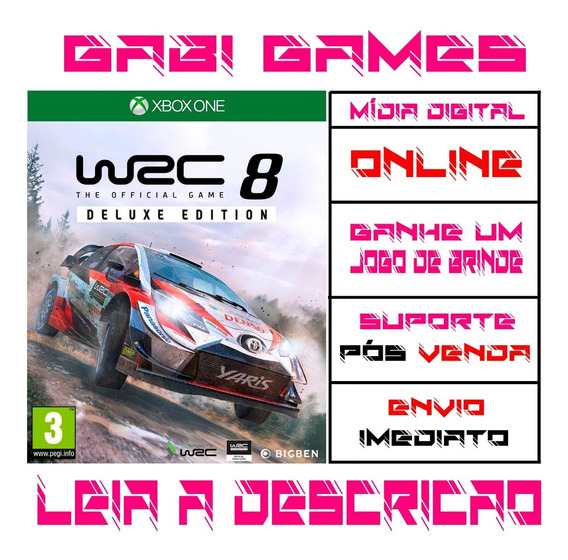 Wrc 8 Deluxe Edition - Xbox One Digital Online + Brinde