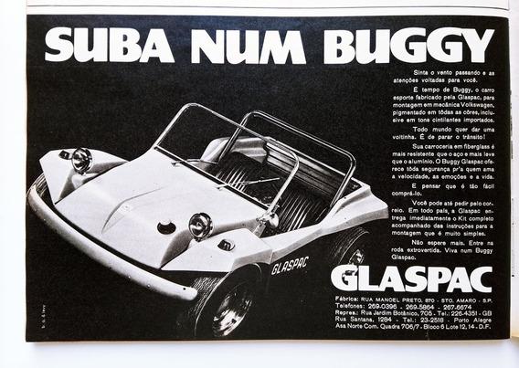Buggy Glaspac - Propaganda Rara E Antiga De Revista