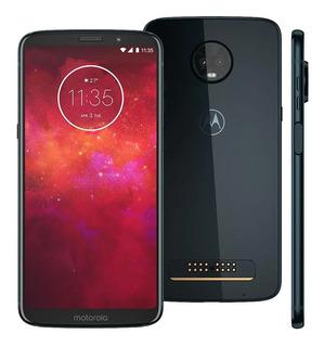 Motorola Moto Z3 Play Índigo 64gb Xt1929 Nacional Nota Fiscal E Garantia De Fábrica
