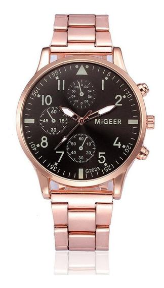 Homens Relógio Presentes Cinto De Aço Inoxidável Relógios Qu