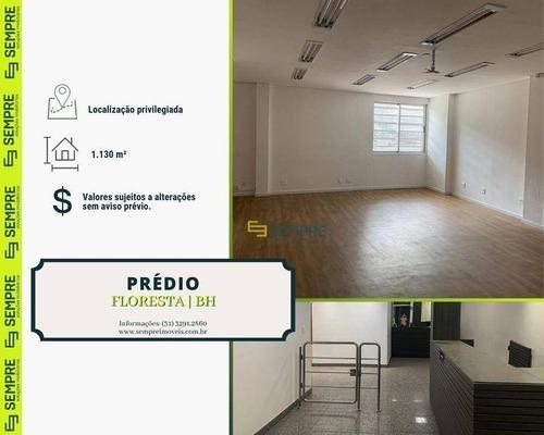 Imagem 1 de 14 de Prédio Para Alugar, 1.130 M² - Floresta - Belo Horizonte/mg - Pr0032