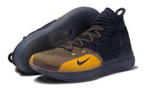Tênis Nike Zoom Kd 11 Michigan Masculino - Azul/amarelo