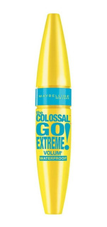 Máscara de pestañas waterproof Maybelline The Colossal Go Extreme 9.5ml color Black