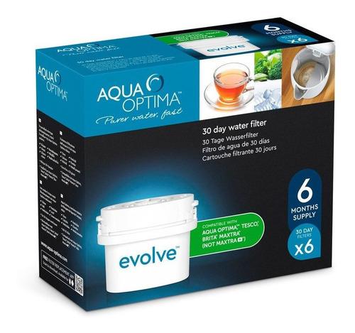 Pack X6 Filtros Evolve P/ Jarra Aqua Optima 30 Días C/u Loi