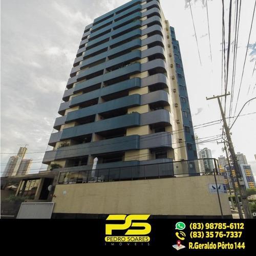 ( Oferta ) Apartamento Com 4 Quartos 2 Suíte No Cabo Branco - Ap1607