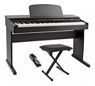 Piano Digital Electrico Rp120 88 Teclas Peso Taburete Cuotas