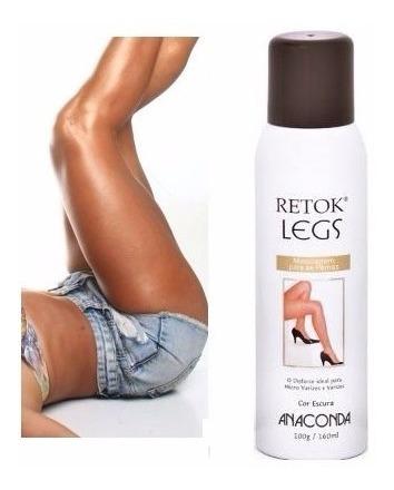 Retok Legs Meia Calça Spray Maquiagem P/ Pernas Anaconda
