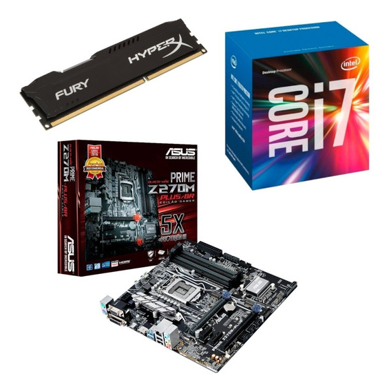 Kit Gamer I7 7700 + Placa Mãe Z270m + 8gb Ram