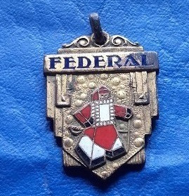 Medalla Publicidad Jabón Federal En Bronce Y Esmalte