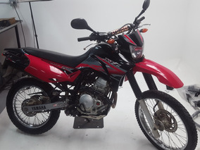 Yamaha Xtz 250 Roja Modelo 2013 Con Exploradora Usb Parrilla