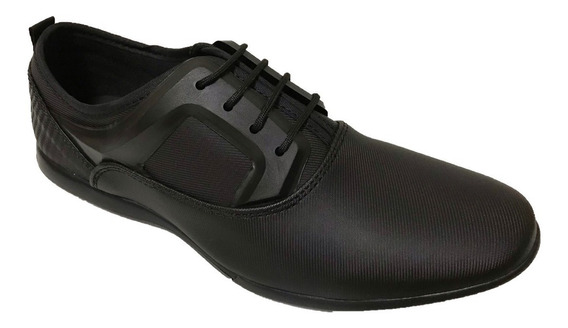 Zapato Casual Hombre Choclo Cintas Negro Custom Style 301