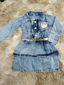 Vestido Jeans Infantil 2 Ao 8