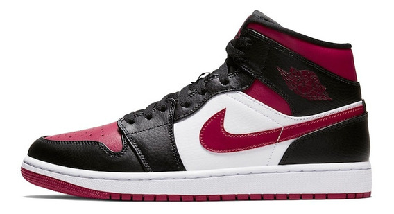 Tenis Nike Air Jordan 1 Mid Bred Toe Royal Sbb Hype Original