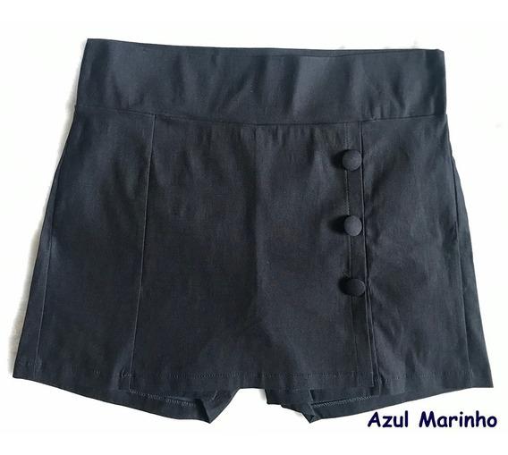 Saia Com Shorts Cintura Alta