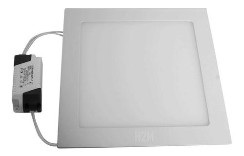 Imagen 1 de 10 de Plafon Led Spot Cuadrado 18w Embutir Panel Marco Blanco
