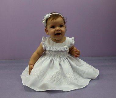 Vestido De Batizado Infantil Katitus Casinha De Abelha