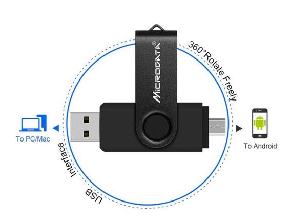 Super Promoção Pen Drive Microdata 128 Gb Original 2 Em 1