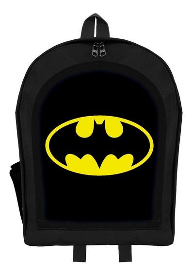Mochila Infantil Jardín Superheroe Batman Logo 2019 Givan