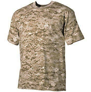 Remera Camuflada Digital Desert
