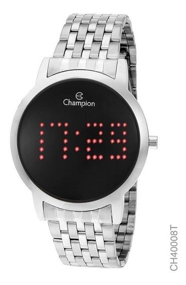 Relógio Digital Feminino Champion Prata Ch40008t