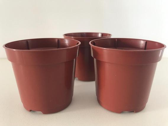 200 Vasos 80 Ml Para Mudas Pote 6 Suculentas Cactos Marrom
