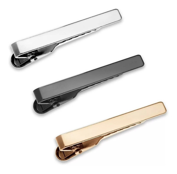 Pisacorbatas Tie Bar Minimalista Liso 4.3cm Z1051