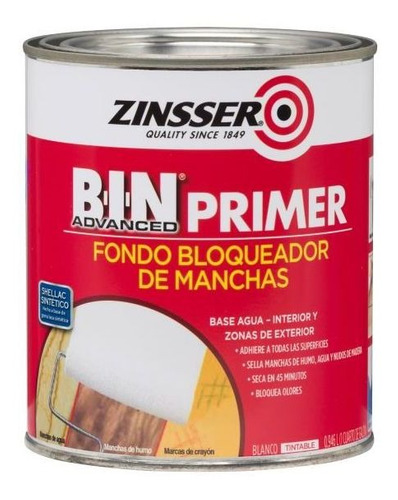 Rust Oleum Fondo Bloqueador De Machas Advance Blanco Th901ex