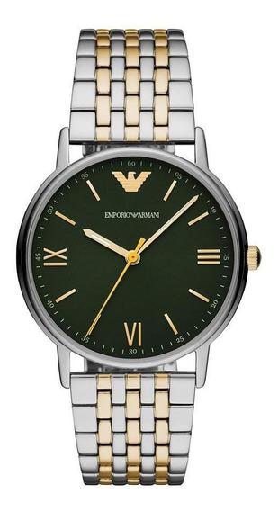 Relógio Masculino Emporio Armani Kappa Prata - Original