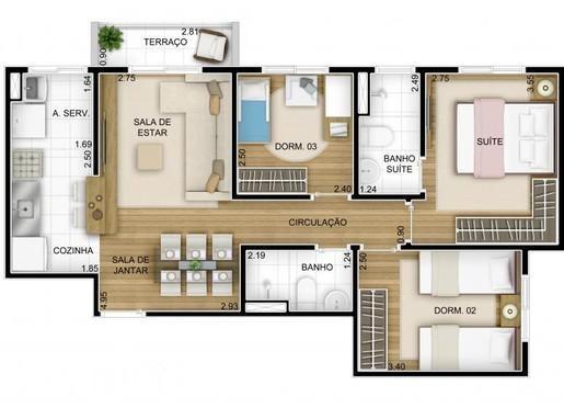 Apartamento Barueri - Inspire Brisas 66m 3 Dormitorios