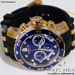 Relógio Invicta Pro Diver 6983 Azul 18k Borracha - Original