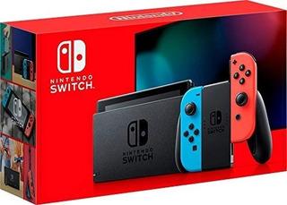 ® Consola Nintendo Switch + 2 Juegos Fisicos Neon O Gris Msi