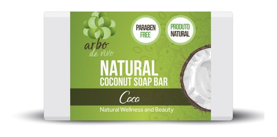Sabonete Òleo De Coco Natural Orgânico Sem Parabeno 100g