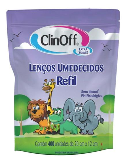 Lenço Umedecido Infantil Refil C/400 Clin Off