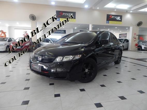 Honda New Civic 1.8 Lxs Flex Aut Completo Couro + Multimídia