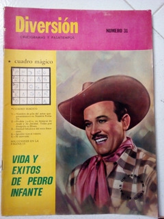 Pedro Infante En Revista Diversion Y Pasatiempos Abril 1968