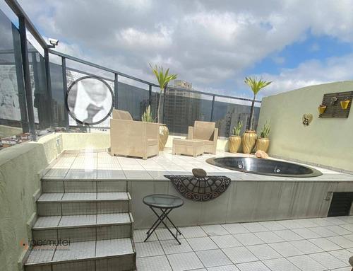 Linda Cobertura Com 2 Dormitórios À Venda, 149 M² - Vila Bertioga - São Paulo/sp - Co0042