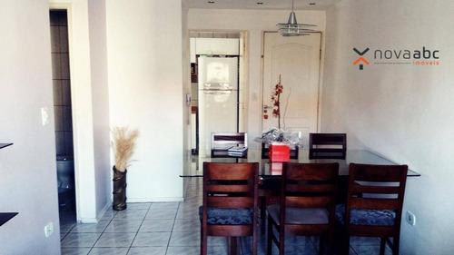 Imagem 1 de 19 de Apartamento Com 3 Dormitórios À Venda, 74 M² Por R$ 318.000 - Parque Erasmo Assunção - Santo André/sp - Ap0880